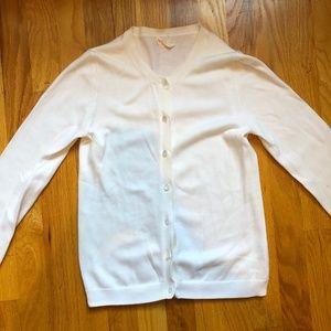 J. Crew Shirts & Tops - Crewcuts Girls White Cardigan